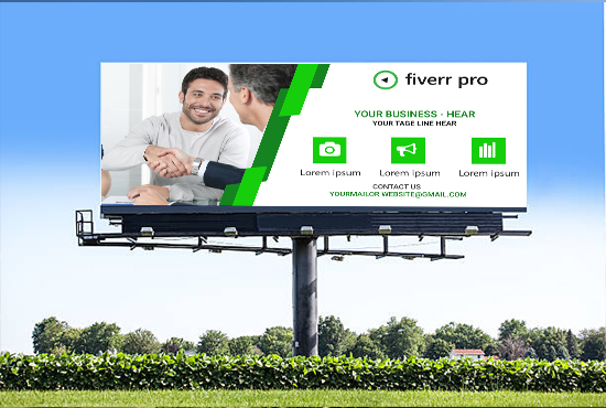 Do Eye Catching Banner Design And Billboard Design