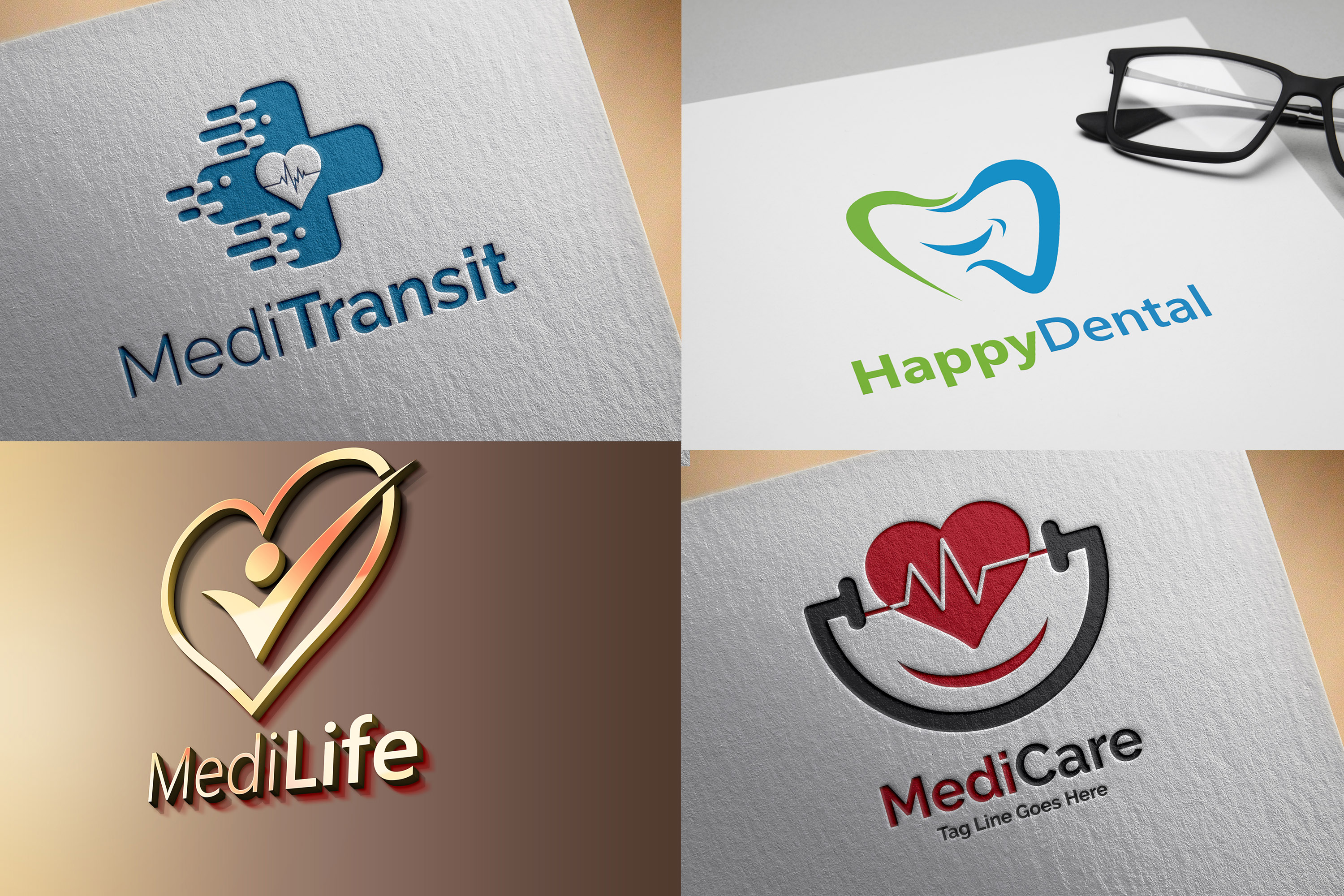 Design Medical,  Health Care,  Dental and Fitness Logo