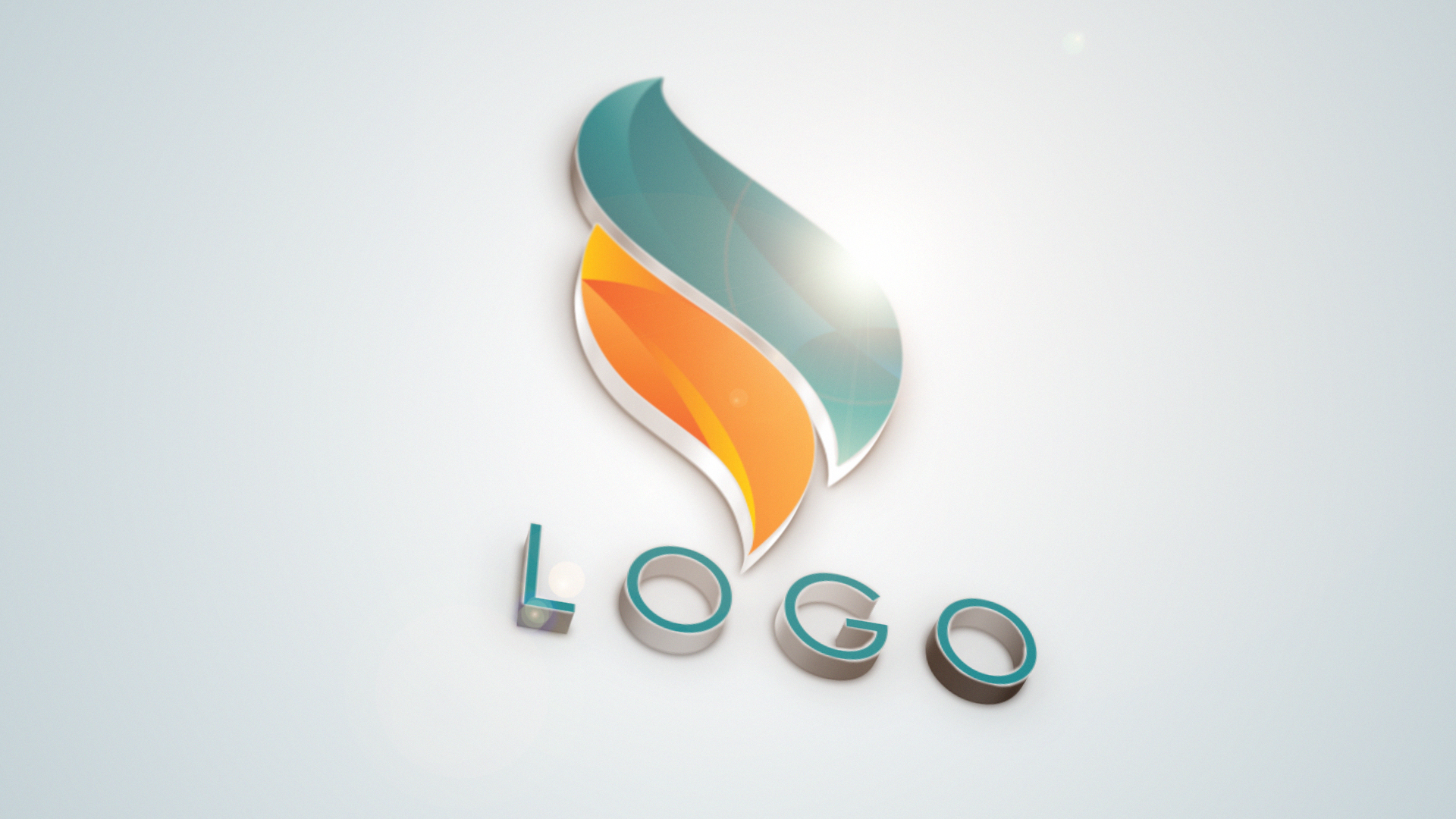 Professional 3D Logo intro