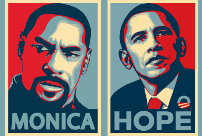 create your portrait in Obama Hope Poster Style