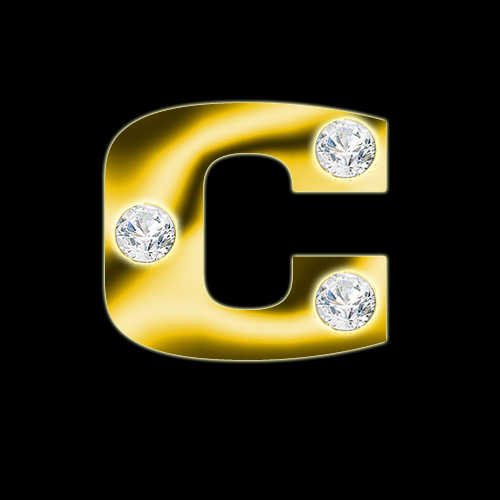 AMAZINGLY DESIGNS 24 CARAT DIAMOND GOLD TEXTURIZED ALPHABETS [MULTI-USE]
