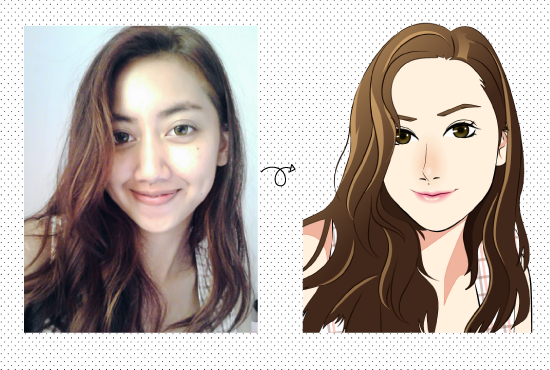 Draw a cute cartoon from your photo