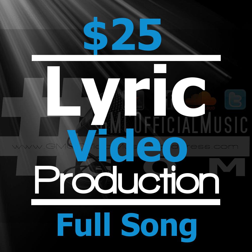 create a professional lyric video for your full song!