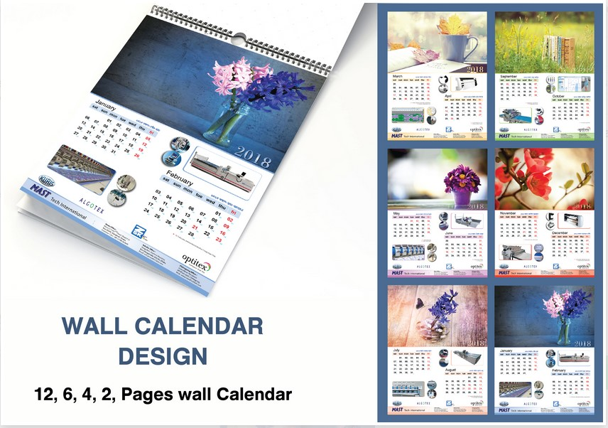 Make professional yearly calender for  next year
