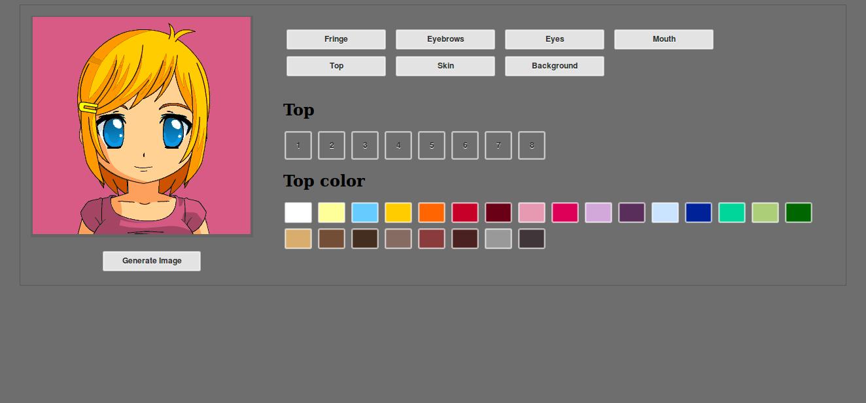 Online cartoon portrait creator script,  html,  php