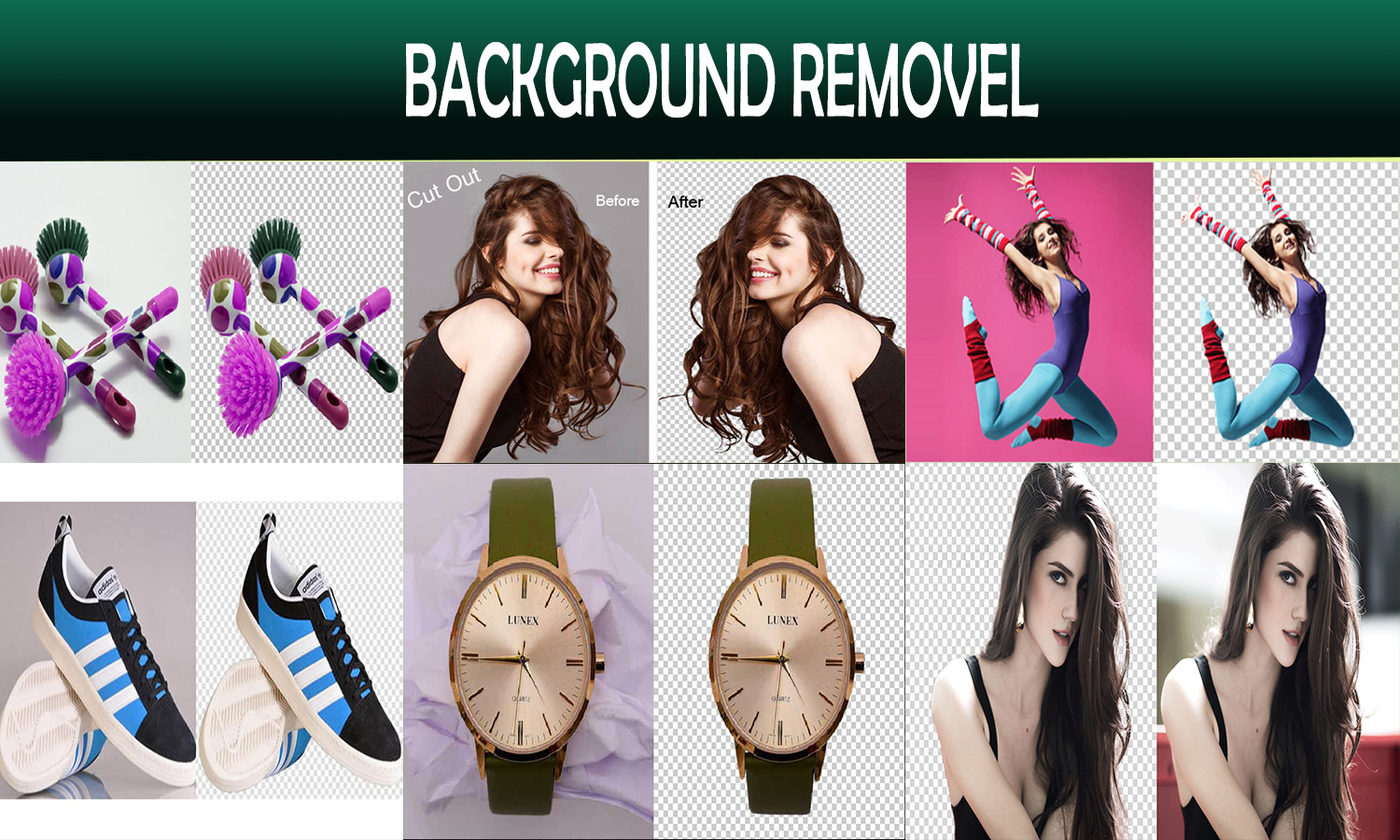 Professionally Remove background of 20 images