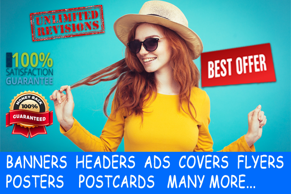 create 4 professional banner header ads cover flyer etc