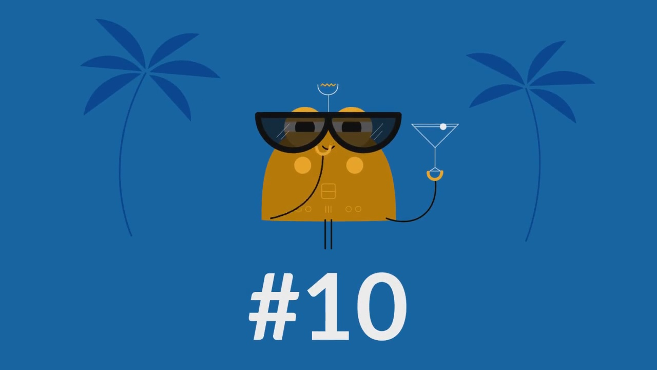Create this Top 10 Vacations number countdown