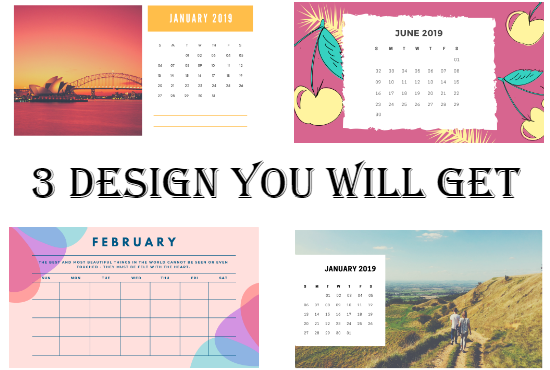 I'll create Calendar And Cards Design