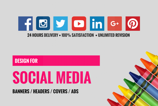 Design a outstanding social media banner cover logo
