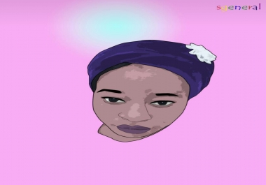 Draw a vector portrait
