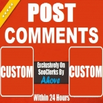 Get Instant 10 To 50 Comments Random Or Custom In Social Media Posts