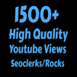 I will Add 1500+ High Quality Youtube vie ws