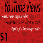 1000 - 1500+ High Quality Youtube Vie ws Fast delivery