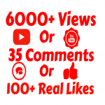 add 6000+ VIEW'S OR 500 COMMENTS OR 1000 Youtube Subscriber