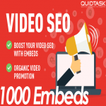 Get 1000 YouTube Embeds and Signals on 100 Blogs and 50 PR9 Social Sites for your video