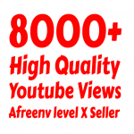 I will add 8000 to 10,000+ High Quality Suggested Youtube vie ws