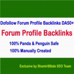 160 DoFollow Forum Profile Backlinks to Boost Rank DA50-DA100
