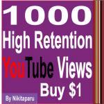 Super Fast HQ 1500+ Non Drop Good Retention Views