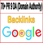 Get you 70+ PR 9 DA domain authority Backlinks