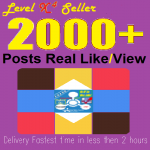 Real 2,000 Likes Or Views On your Posts