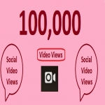 100,000 video views fast completed your work