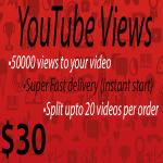 50,000 vie ws to your YouTube video Fast delivery