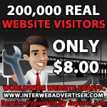 200K Web Traffic To Your Website,  Blog or Affiliate Link