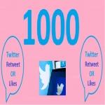 1000 HQ Retweet OR Favorites In Your Twitter Tweets