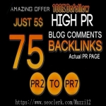 I will Manually Do 75 Blog Comments on HIGH DA PA