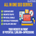 All In One - 10,000 Backlinks,  UNLIMITED Traffic,  PR9 Social Signals,  High Quality Bookmarks