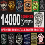 Send You 14000 Print Ready Tshirt Designs