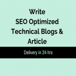 Write SEO Optimized Technical Blogs and Article Writing in 24 hrs