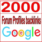 Get you 2000 HQ PR Forum Profiles backlinks