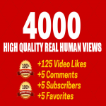 Fast 2000 Youtube vi-ew or 1000 youtube like only