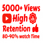 add 5000 to 6000+ High Quality Youtube vie ws