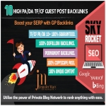 SKYROCKET Your Google Rankings With 10 High PA/DA TF/CF Guest Posts Backlinks