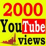Fast 2000+ High Retention 90 To 100 Percent Non Drop Vi ews