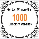 give you list of more than 1000 directory sites
