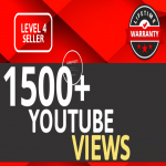 Add 1500+ HIGH RETENTION YouTube VIEWS Instant Start Fully safe Guaranteed