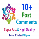 Get Instant 10 High Quality Photo Post Video Comments