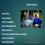 Give you professional admin support and data entry job