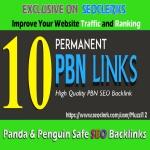 10 Permanent PBN Links DA 20+ & PA 20+