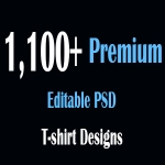 1,100+ Premium Editable PSD T-Shirt Designs Theme