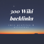 Wiki backlinks mix profiles & articles 300