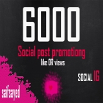Offer 6000 social post promoting love OR 6000 vieee