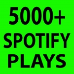 Give 5000 Spoti-fy Plays High Quality USA Service Here
