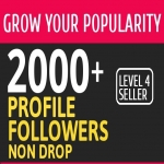 Add 2000+ High Quality Fast Profile Followers PERMANET to Your Account