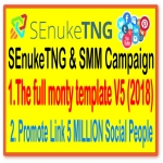 SEnukeTNG & SMM Campaign- The full monty template V5 2018- Social Traffic