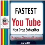 Life Time Guarented 1000 You+tube Channel Non Drop Subscriber Guarenteed Within 1-12 hours